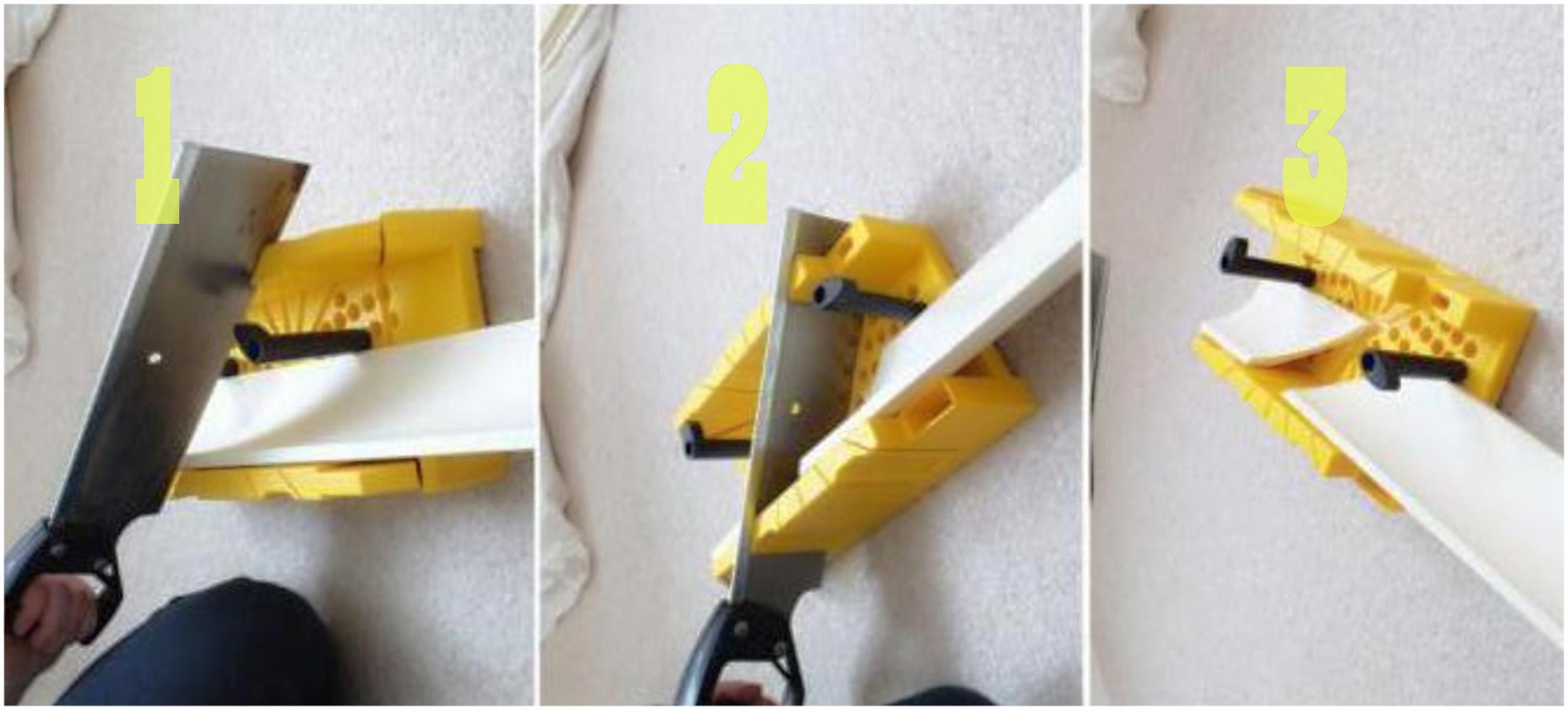 Как подрезать плинтус ПВХ